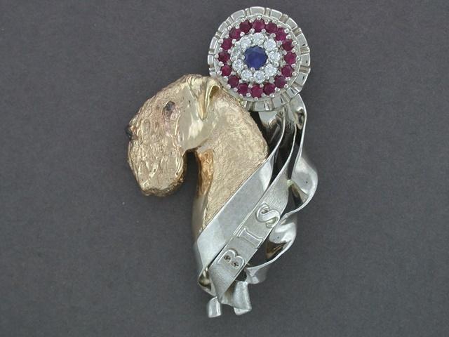 Soft Coated Wheaten Jewelry Soft Coated Wheaten Tie Tack Jewelry Sterling Silver Handmade Dog Tie Tack SC4-TT