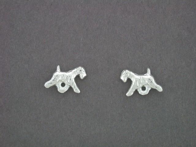 Soft Coated Wheaten Terrier Jewelry Sterling Silver Handmade Wheaten Earrings  SCW121X-E